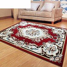 Wolleblend europäisch-amerikanisch-chinesischen Stil Wohnzimmer Couchtisch Sofa und Teppich/Schlafzimmer Bettdecke-B 160x230cm(63x91inch)