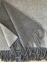 Wollplaid doppelseitig mit Kaschmir Anteil,