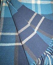 Wollplaid, Tagesdecke, Sofadecke 135x190 cm mit 100% Wolle