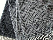 Wollplaid, Tagesdecke, Überwurf, Sofadecke 140x180 cm 100% Wolle