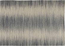 Wollteppich Grau 160 x 230 cm IKAT