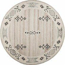 Wollteppich, Royal Berber, THEKO, rund, Höhe 18