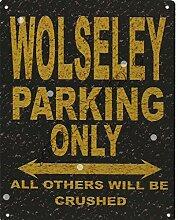 Wolseley-Metall Parking Rustikaler Stil den großen 30,5x 40,6cm 30x 40cm Auto Schuppen Dose Garage Werkstatt Art Wand Spiele Raum