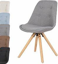 WOLTU 1 Stück Esszimmerstuhl Design Stuhl Küchenstuhl Leinen Kunststoff Massivholz Neu Design BH54gr-1-a Grau