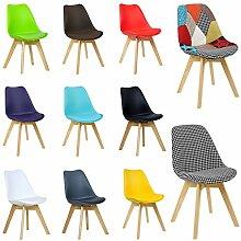 WOLTU® 2er Set Esszimmerstühle BH29gb-2-c Esszimmerstuhl Design Stuhl Küchenstuhl Holz, Neu Design, Gelb