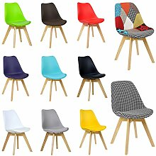 WOLTU® 2er Set Esszimmerstühle BH29gr-2-c Esszimmerstuhl Design Stuhl Küchenstuhl Holz, Neu Design, Grau