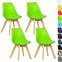WOLTU® 4er Set Esszimmerstühle Küchenstuhl Design Stuhl Esszimmerstuhl Kunstleder Holz Neu Design Grün BH29gn-4