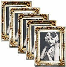 WOLTU 5er Packung Bilderrahmen 10x15cm Bild Rahmen