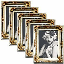 WOLTU 5er Packung Bilderrahmen 13x18cm Bild Rahmen