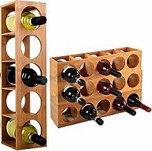 WOLTU Bambus Weinregal Weinflaschenregal für 5