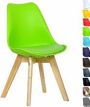 WOLTU BH29gn-1 1 x Esszimmerstuhl 1 Stück Esszimmerstuhl Design Stuhl Küchenstuhl Holz Neu Design Grün
