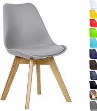 WOLTU BH29gr-1 1 x Esszimmerstuhl 1 Stück Esszimmerstuhl Design Stuhl Küchenstuhl Holz Neu Design Grau