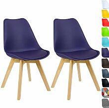 WOLTU BH29la-2 2 x Esszimmerstühle 2er Set Esszimmerstuhl Design Stuhl Küchenstuhl Holz, Neu Design Lila
