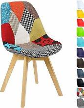 WOLTU BH29mf-1 1 x Esszimmerstuhl 1 Stück Esszimmerstuhl Design Stuhl Leinen Küchenstuhl Holz Neu Design mehrfarbig