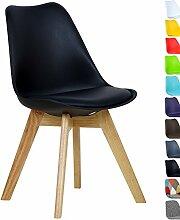 WOLTU BH29sz-1 1 x Esszimmerstuhl 1 Stück Esszimmerstuhl Design Stuhl Küchenstuhl Holz Neu Design Schwarz