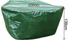 WOLTU GZ1168-c Schutzhülle Schutzhaube Abdeckplane Abdeckhaube Gartenmöbel Plane Hülle Abdeckung wasserabweisend Grün für Sonneninsel 200x200x136 cm