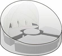 WOLTU GZ1195tp Schutzhülle Schutzhaube Abdeckplane Abdeckhaube Gewebeplane , Gartenmöbel Plane Hülle Abdeckung wasserabweisend für Sonneninsel 175x85 cm , transparen
