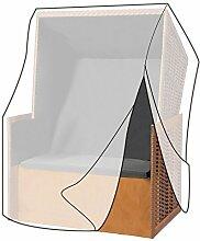WOLTU GZ1200tp Schutzhülle Schutzhaube Abdeckplane Abdeckhaube Gewebeplane , Gartenmöbel Plane Hülle Abdeckung wasserabweisend für Strandkorb XXL 175/140x135x105 cm , transparen