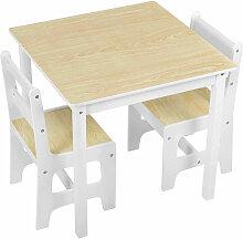 Woltu - Kindersitzgruppe mit 2 Kinderstühle für