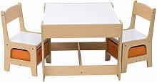 Woltu - Kindertisch mit 2 Stühle Sitzgruppe mit