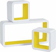 WOLTU RG9229gb Wandregal Cube Regal 3er Set