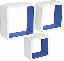 WOLTU RG9236dbl Wandregal Cube CD Regal 3er Set
