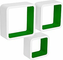 WOLTU RG9236dgn Wandregal Cube CD Regal 3er Set