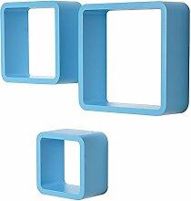 WOLTU RG9282bl Wandregal Cube Würfel CD DVD Regal