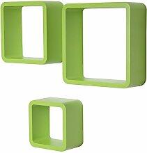 WOLTU RG9282gn Wandregal Cube Würfel CD DVD Regal