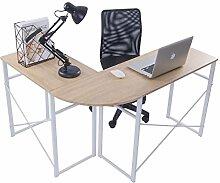 WOLTU® Schreibtisch TSG24hei L-Form