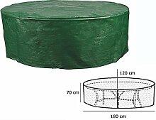 WOLTU Schutzhülle Schutzhaube für Gartenmöbel Gartentisch Hülle Gartenmöbel Abdeckplane Oval Abdeckhaube Abdeckung 70x180x120cm Grün GZ1162