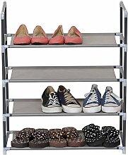 WOLTU® SR0007-1 Schuhablage Schuhständer Schuhregal , XXLSteckregal Stoffregal Schuhschrank für 12 Paare Schuhe , Grau (60x28x71 cm)