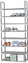 WOLTU® SR0009-1 Schuhregal Schuhständer Steckregal Schuhablage , XXL 8 Ebene Stoffregal Schuhschrank für 24 Paare Schuhe , Grau , 60x29x140 cm