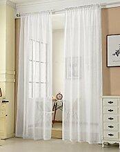 WOLTU® VH5856ws, Gardinen transparent mit