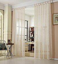 WOLTU® VH5863cm, Gardinen transparent mit
