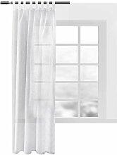 WOLTU® VH5863ws, Gardinen transparent mit