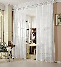 WOLTU® VH5864ws, Gardinen transparent mit
