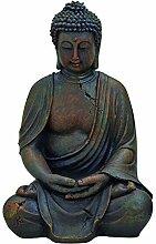 WOMA Deko Buddha Figur Garten Sitzend aus