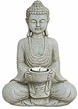 WOMA Deko Buddha Figur mit Teelichthalter,