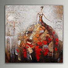 Woman Acryl Gemälde auf Leinwand von Hand