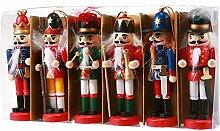 Womdee Nussknacker-Set, Weihnachtsmotiv 6 Stück
