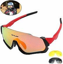 Womdee polarisierte Sport-Sonnenbrille mit 3