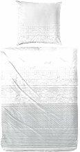 WOMETO Perkal-Bettwäsche 155x220 & 80x80 cm 100%