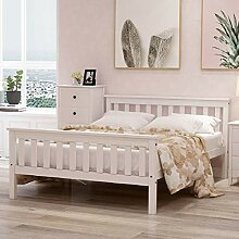 WOMIN Doppelbett 140x200 cm, Holzbett aus