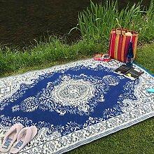 Wonder Rugs Outdoor Teppich Blau-Orientalisch