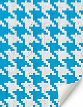 wonderbold Wal/002Optische Cubes Tapete, Schwarz