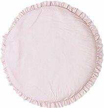 Woneart Baby Krabbeldecke Matt Kinderteppich rund Kinderzimmer Kinderteppich weich Gepolstert Spielmatte (Rosa)