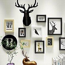 WOneww Foto an der Wand hängenden Hirschkopf
