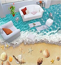 Wongxl 3D Bodenfarbe Wasserabweisend Rutschfest