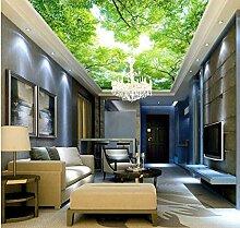 Wongxl 3D Hd Himmel Baum Decke Wandbild Tapete 3D